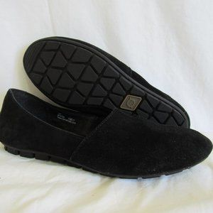 Born Black Suede  SEBRA Loafer Women's 8